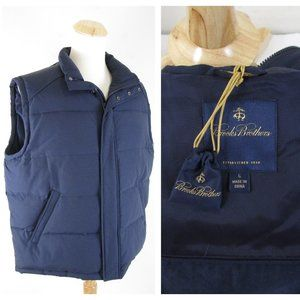 Brooks Brothers Navy Down Puffer Quilted Vest NEW